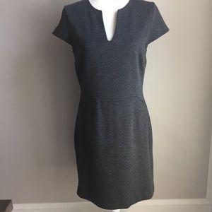 Banana Republic Size 6 Lined zip back grey dress